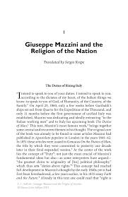 giuseppe mazzini and the religion of the nation springer