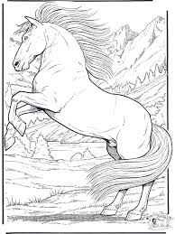 realistic horse coloring pages funnycoloring animals