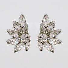 clip on bridal earrings lorren bell daniela earrings clip on wedding earrings