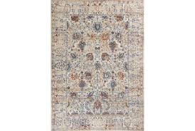 Grey And Orange Rug 91x130 Rug Rory Blue Orange Living Spaces