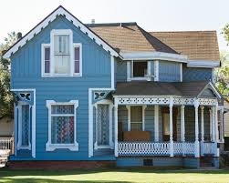 blue house white trim houses of blue photos to inspire your next paint job