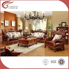 salon du luxe salon classique de luxe en cuir divan a89 canapé salon id de