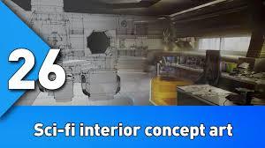 Concept Artist Job Description Workflow For Creating Sci Fi Interior Concept Art Bst 26 Youtube