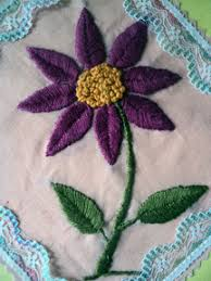 Fish Bone Stitch Embroidery Tutorials Needle With Thread Sheenu S Embroidery February 2013