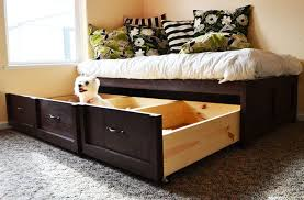 White Daybed With Storage Daybed With Storage Trundle Drawers Project 1 From White