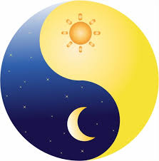 ying yang sun and moon free vector in adobe illustrator ai ai