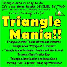 triangle mania finding area and perimeter and classifying triangles