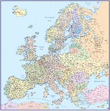 Political Map Of Europe by Vector Europe Map Political Illustrator And Pdf Formats