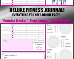 deluxe 3 in 1 health and fitness journal includes exercise