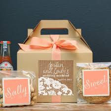 wedding welcome boxes large gable wedding welcome boxes arrow label