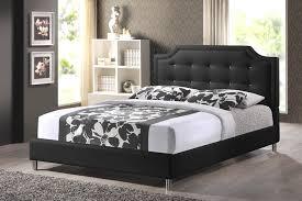 Upholstered Headboard Bed Frame Carlotta Black Modern Bed With Upholstered Headboard King Size