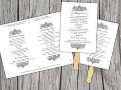 diy wedding program template wedding ceremony program