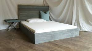 Reclaimed Wood Bed Frames The Michelle Grey U0026 Turquoise Weathered Reclaimed Wood Bed Frame