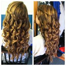 pageant curls hair cruellers versus curling iron waterfall braid with curls google search wedding hair