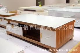 plate wood coffee table modern living room tv cabinet glass