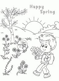 drawings for kids on spring season great drawing