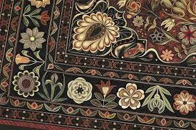quilled paper carpet mimics the exquisite details of an