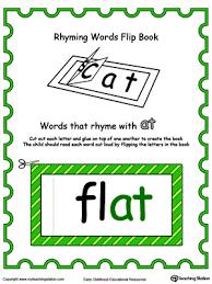 printable rhyming words printable rhyming words flip book ay in color myteachingstation