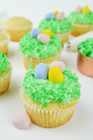 Decorating Easter Egg Cupcakes by Coconut Easter Egg Hunt Cupcake Recipe Recipechatter