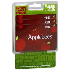 applebee s gift cards applebees 3 pack 15 gift cards walgreens