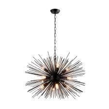 Sputnik Chandelier Y Decor 12 Light Black Sputnik Chandelier Lz3330 12 Ba The Home