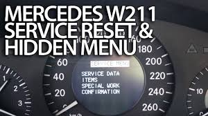 mercedes a class service mercedes w211 service reminder reset mr fix info