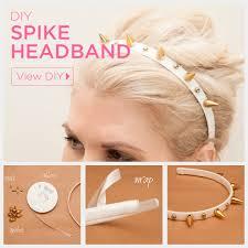 spiked headband spike headband diy