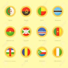 Benin Flag Circular Flags Of Algeria Angola Benin Botswana Burkina Faso