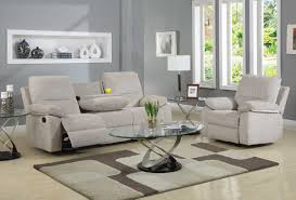 Chenille Reclining Sofa by Homelegance Marianna Reclining Sofa Set Beige Chenille U9716 3
