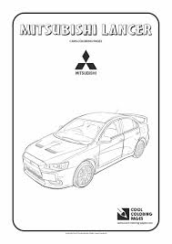 mitsubishi lancer coloring page cool coloring pages