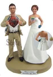customized wedding cake toppers customized wedding cake toppers and groom casadebormela