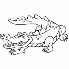 Coloriage Crocodile au bord de leau  Sans Dépasser