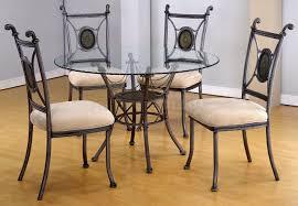furniture unique round glass kitchen table set black round