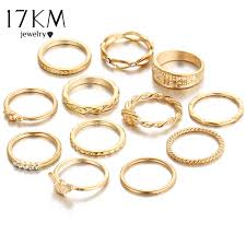 girl finger rings images 17km 12 pc set charm gold color midi finger ring set for women jpg