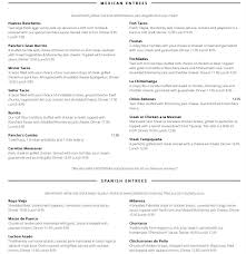 menu for pancho u0027s backyard 433 e sheridan st
