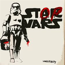 Home Decor Wall Posters Aliexpress Com Buy Banksy Morden Wall Art Star Wars Movie Poster