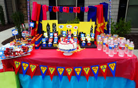 Birthday Table Decorations by Superhero Table Decoration Mj U0027s 3rd Birthday Pinterest