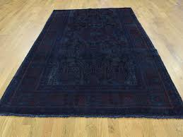 Wide Runner Rug 5 2 X9 2 Handmade Overdyed Nahavand Worn Wide Runner Rug