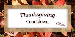 thanksgiving countdown of wisdom homeschool