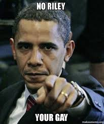 Your Gay Memes - no riley your gay angry obama make a meme