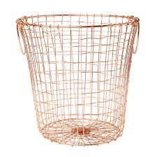 copper wire mesh round basket