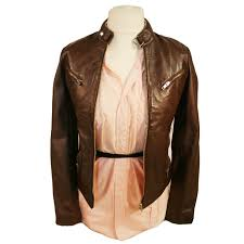 ladies leather motorcycle jacket vintage style biker leather jacket sr01 in chestnut brown or black