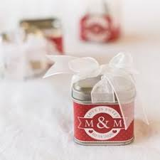 Personalize Candles Mini Vanilla Heart Candle Tins Favors Weddings And Bridal Showers