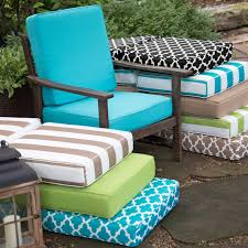 Chair Cushions For Outdoor Furniture by Furniture Turquoise Patio Cushions Sunbrella Deep Seat Cushions