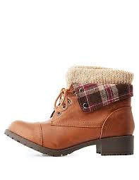 sweater lined foldover combat boots lined foldover combat boots russe