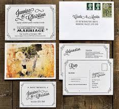 postcard wedding invitations wedding invitation suite printed on thick 320gsm feel