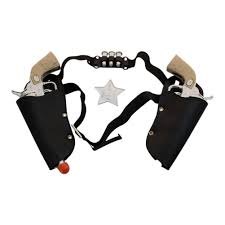 six gun city halloween amazon com western toy cowboy gun u0026 holster set with sheriff