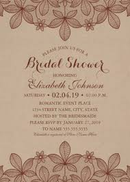 rustic bridal shower invitations bridal shower invitations for the new to be