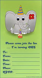 Menaka Invitation Cards 20 Cute 1st Birthday Invitations Free Printable And Original
