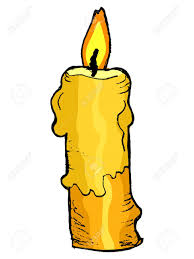 hand drawn vector sketch illustration of candle royalty free